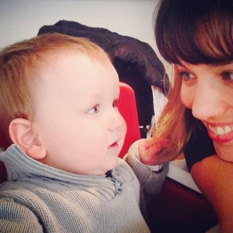 Jordana with baby