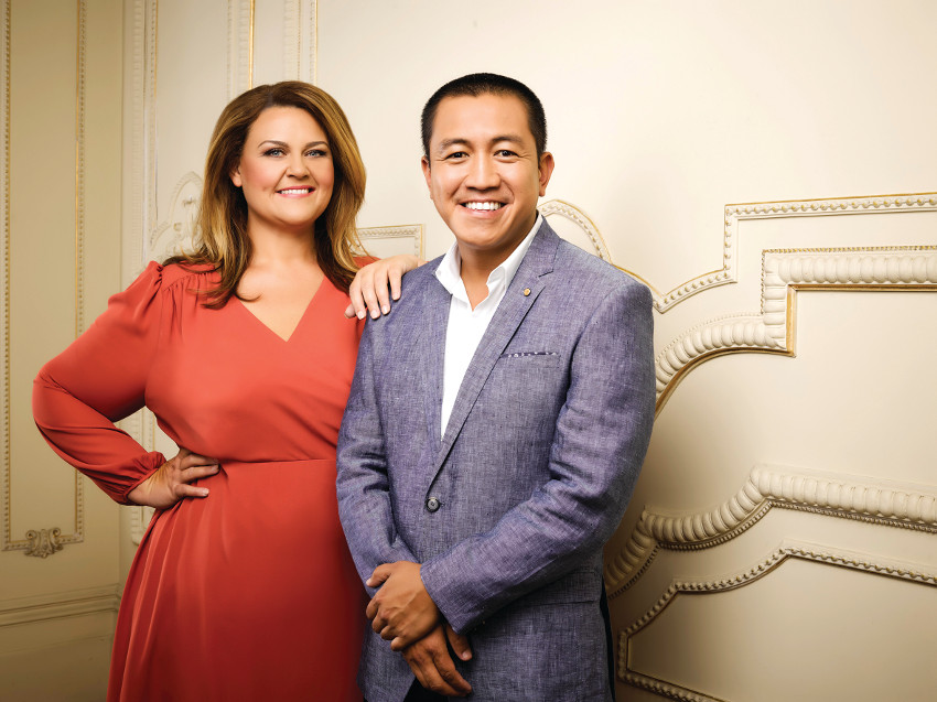 Chrissie Swan and Anh Do