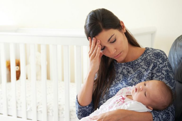 Mother Suffering From Post Natal Depression
