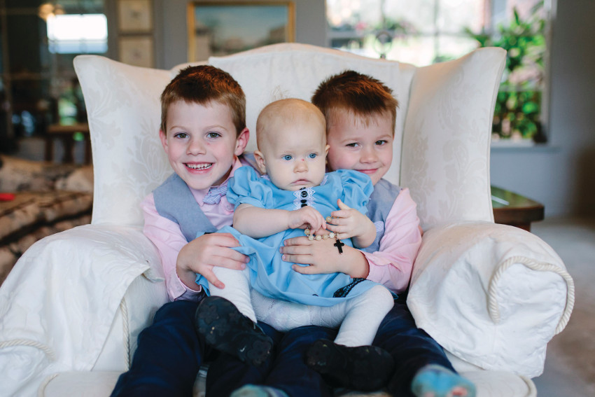 Nora Holly and her brothers