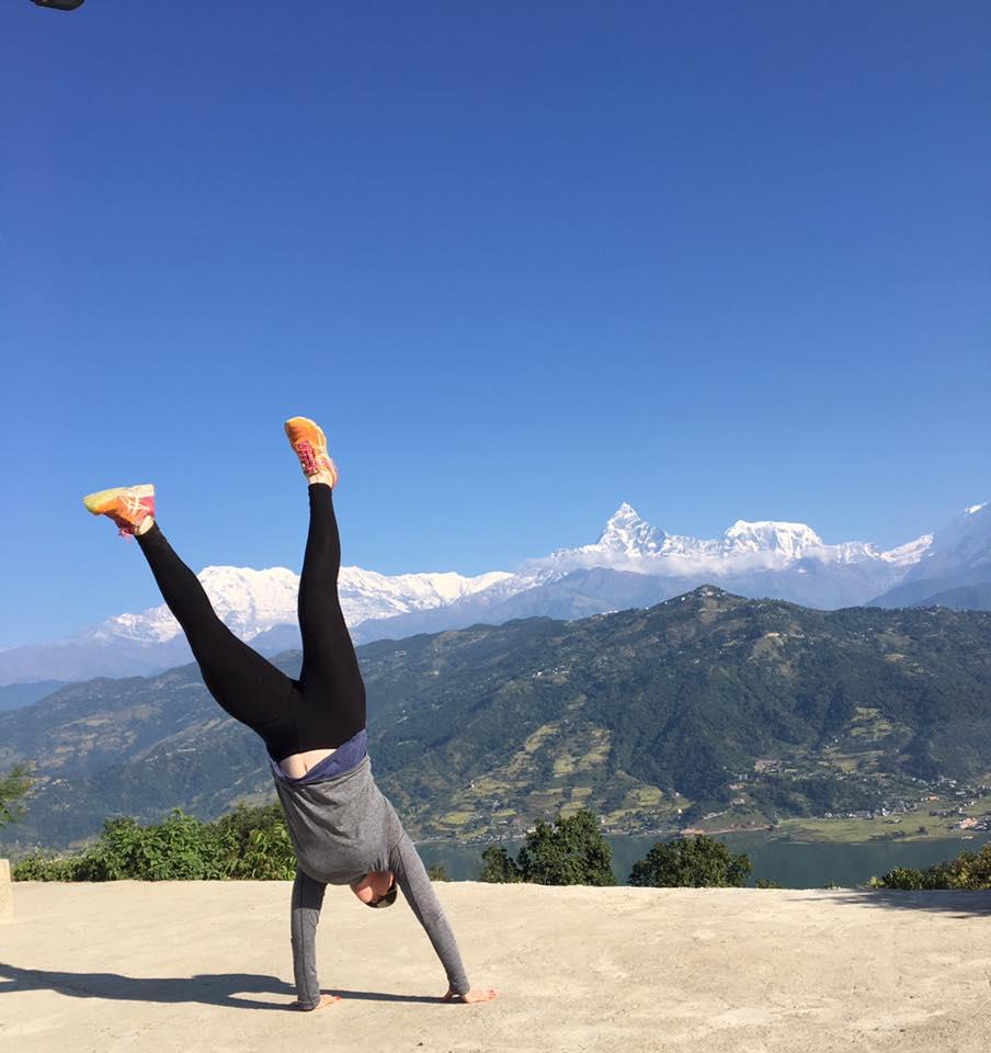 Me - Handstands in Nepal