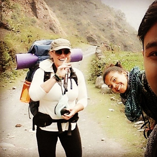 Me Trekking in the Gurja Himal Region of Nepal with Guests