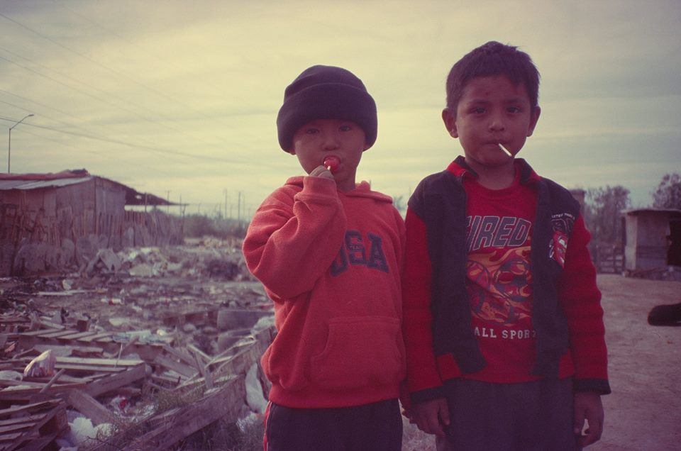 child in mexican dump