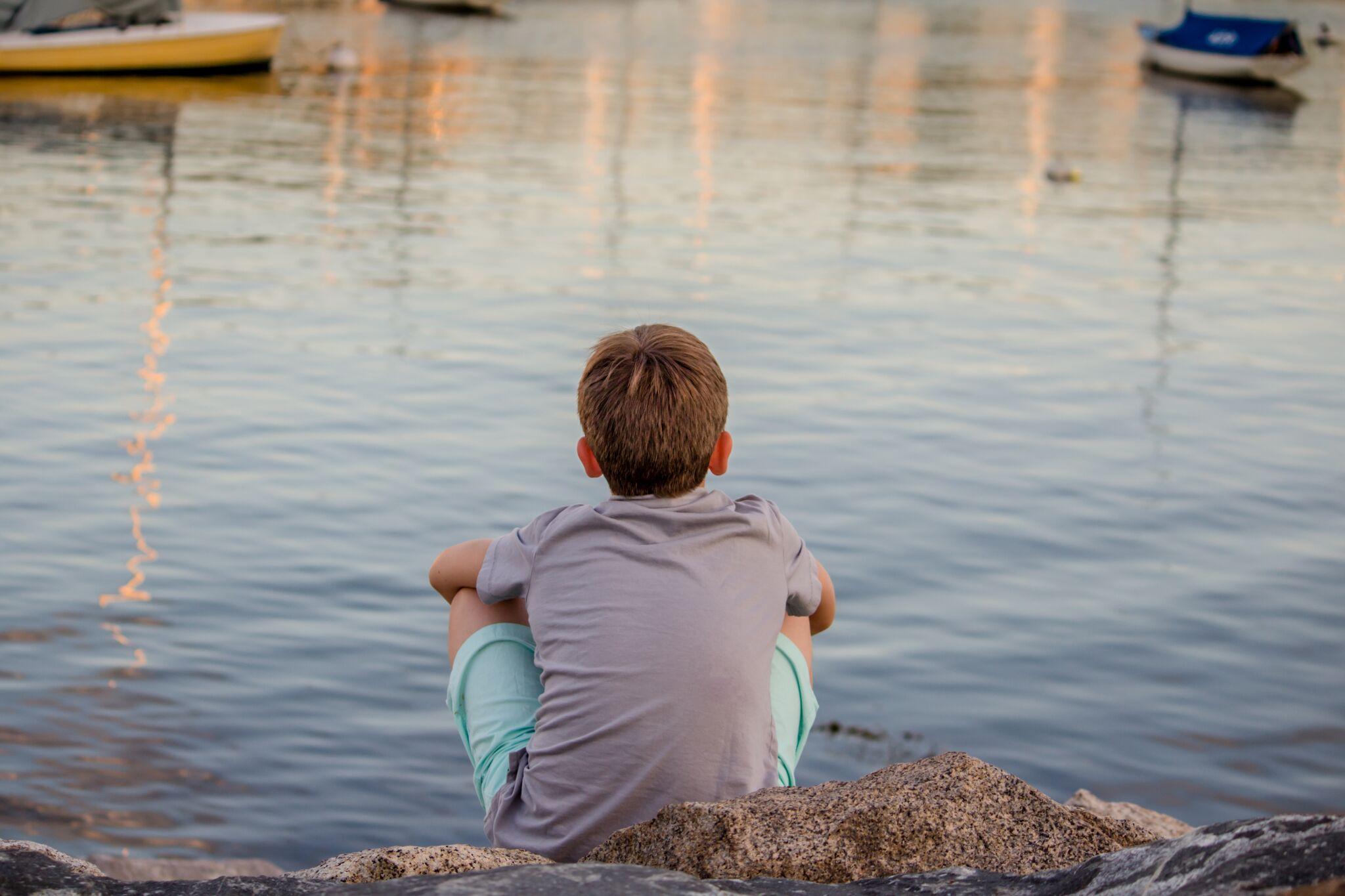 boy meditating