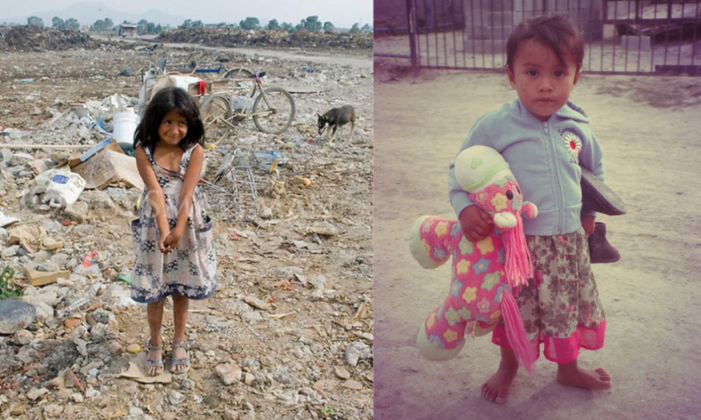 kids in dump